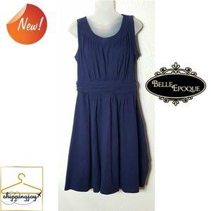 🌈Belle Poque Retro Midi Sleeveless Dress XL blue